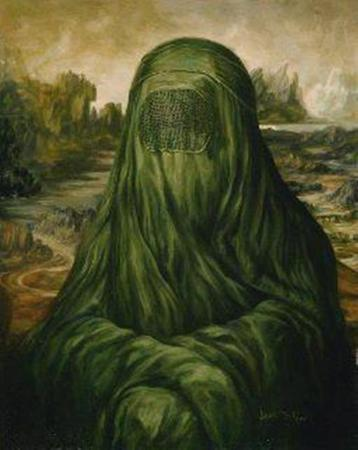 Mona Lisa version burka