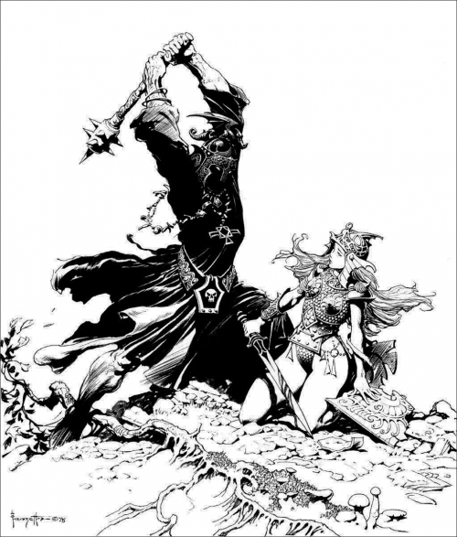 frazetta,illustrations,bande dessinée,bd,heroic fantasy,the lord of the rings,