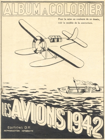 rétro,avions,aviation,pub,affiches,album à colorier