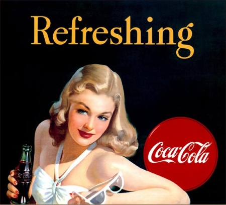 publicité,pin-up,perrier,dita von teese,coca cola,
