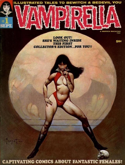 frazetta,illustrations,bande dessinée,bd,vampirella