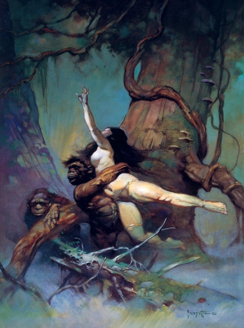 frazetta,illustrations,bande dessinée,bd,captive princess