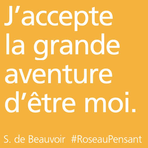 citation, de beauvoir,roseau pensant