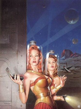 rétro,space girls,pulps,scifi,pin up spatiales,