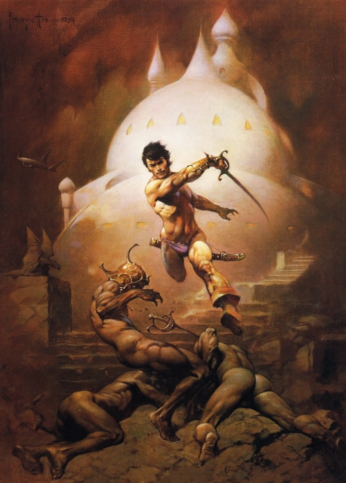 frazetta,illustrations,bande dessinée,bd,swords of mars