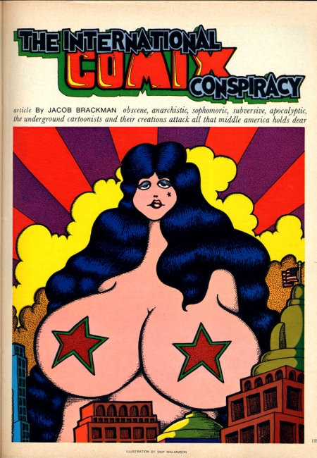 underground,spain rodriguez,trashman,weirdo,mickey rat,rolling stone,s. clay wilson,robert armstrong,rick griffin,plop,skip williamson,bijou funnies,wolverton,dan o'neill's,rand holmes,zap,slow death,gilbert shelton,freak brothers,snarf,crumb