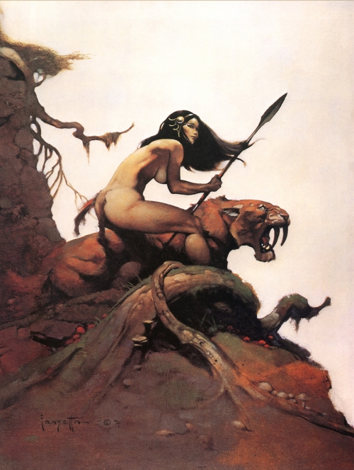 frazetta,illustrations,bande dessinée,bd,savage pellucidar