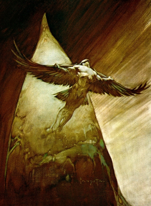 frazetta,illustrations,bande dessinée,bd,birdman