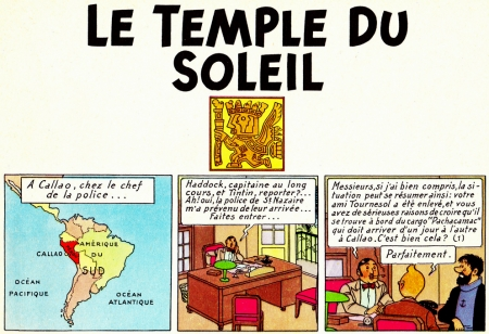 tintin,le temple du soleil,herg,incas,tiahuanaco,porte du soleil