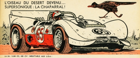 rétro,illustrations,bolides d'antan,autos,voitures de course,jean-pierre boivent,chaparral