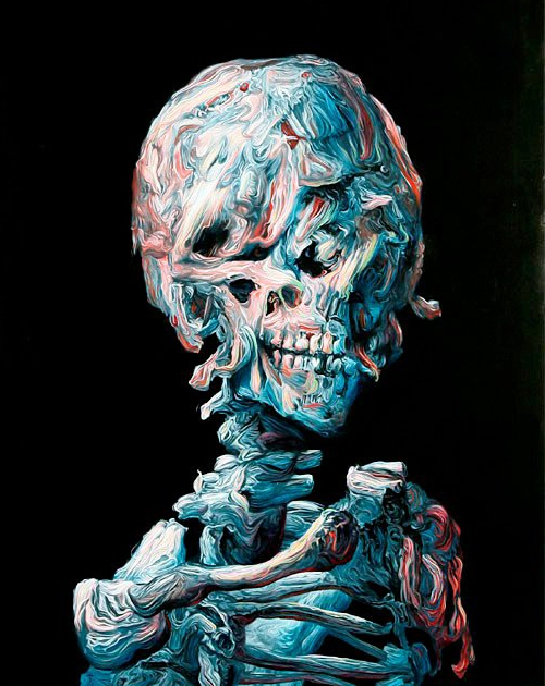 skulls,têtes de morts,art,crâne,glenn brown