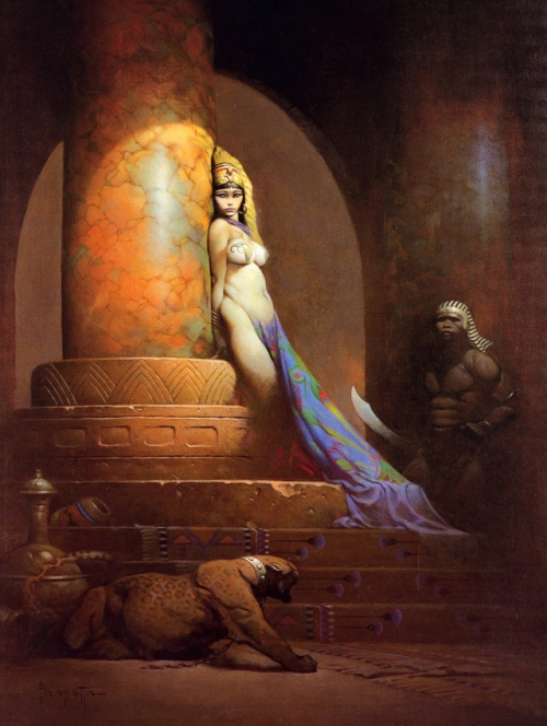 frazetta,illustrations,bande dessinée,bd,egyptian queen