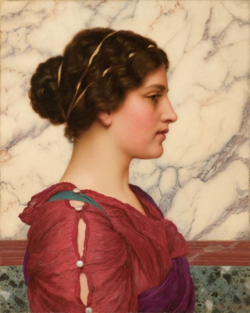 portraits,painting,john william godward