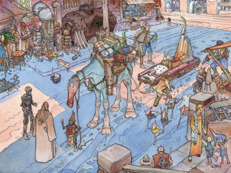 illustration,bd,moebius,gir,giraud,garage hermétique