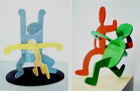 keith haring,sculpture