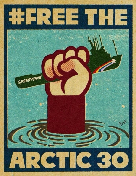 graphisme engagé,contestataire,free the artic,greenpeace