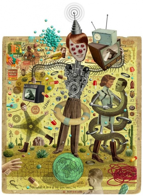 art,collage,michael waraska