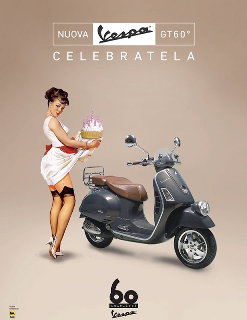 pin-up,retro,vintage,ads,pub,vespa