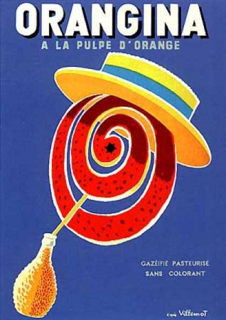graphisme en france 1950-1960, villemot orangina