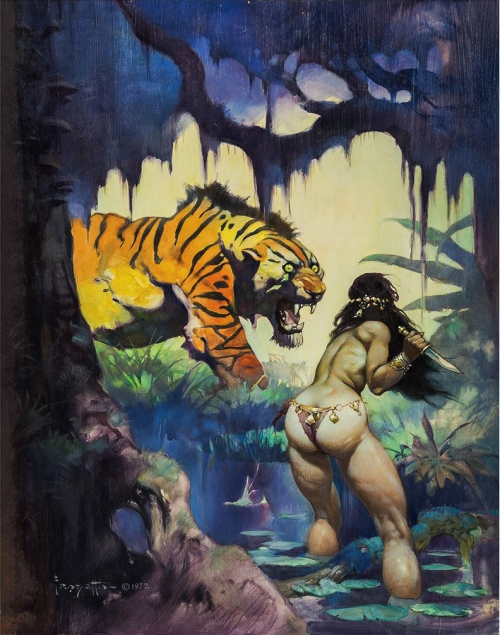 frazetta,illustrations,bande dessinée,bd,escape on venus