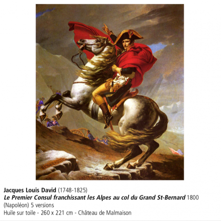 art,histoirejacques louis david, le premier consul franchissant les Alpes au col du Grand St Bernard