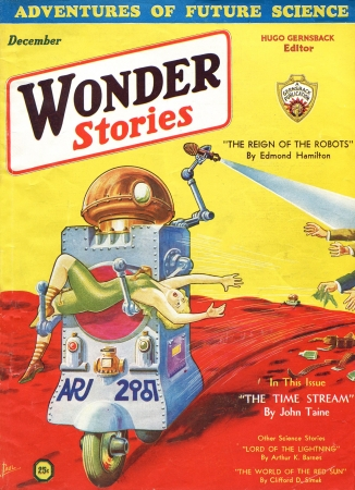 mythes,robots,cybernétique,wonder stories