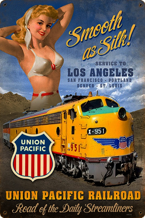 pin-up,ads,pub,rétro,vintage,union pacific