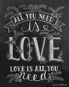 words,sentences all you need is love