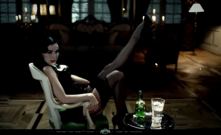 publicité,pin-up,perrier,dita von teese,