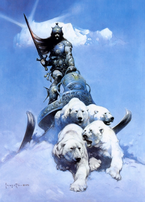 frazetta,illustrations,bande dessinée,bd,the silver warrior