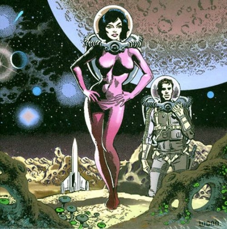 rétro,space girls,pulps,scifi,donald rust,space science fiction,wally wood