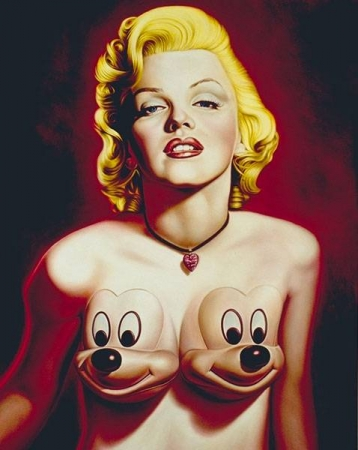 mickey,combas,haring,hulk,ron english,marilyn,