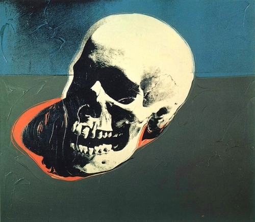 art,pop art,andy warhol,skull