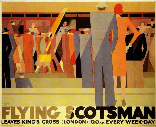 affiches art déco,flying scotsman,leo marfurt