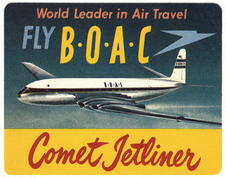 rétro,avions,aviation,pub,BOAC comet jetliner