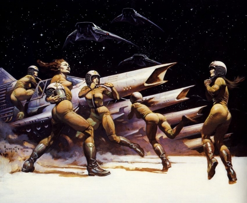 frazetta,illustrations,bande dessinée,bd,battlestar galactica