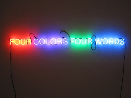 words,sentences Kosuth four colors