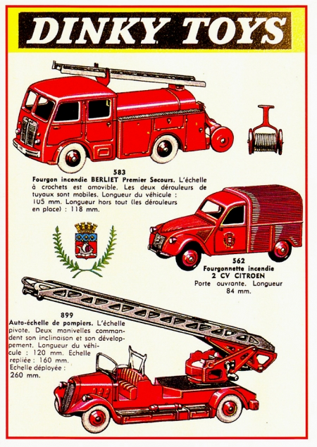 Dinky Toys véhicules pompiers