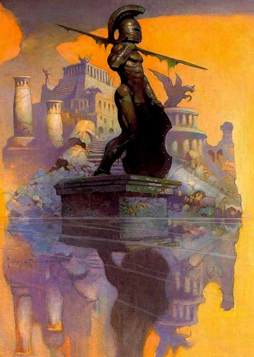 frazetta,illustrations,bande dessinée,bd,atlantis