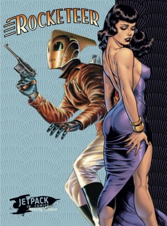 bd,bande dessinée,comic,rocketeer,dave stevens,russ heat,bee,bettie page