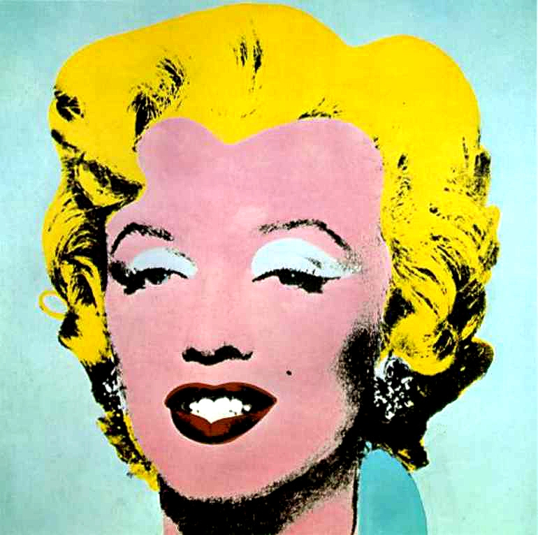 Andy Warhol - Marilyn - 1964  Pop Art Andy Warhol Pop Art