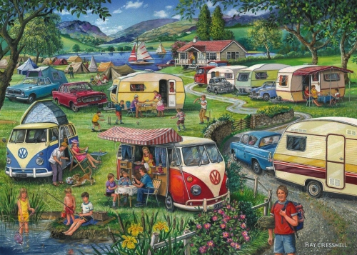 rétro,vintage,camping,caravaning,puzzle,ray cresswell
