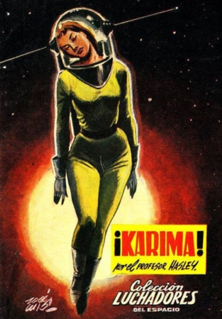 rétro,space girls,pulps,scifi,pin up spatiales,karima
