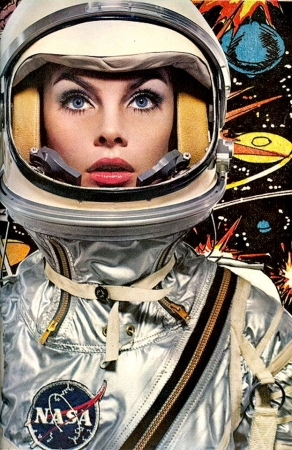 rétro,space girls,pulps,scifi,pin up spatiales,jean shrimpton,avedon