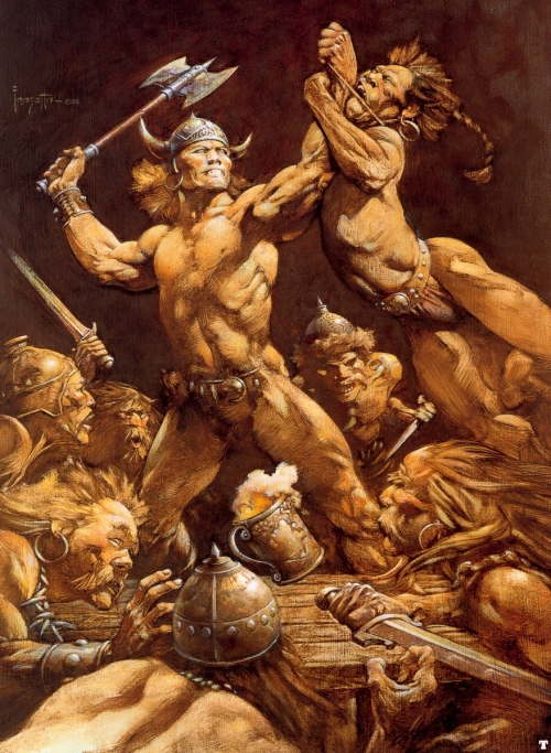 frazetta,illustrations,bande dessinée,bd,the disagreement