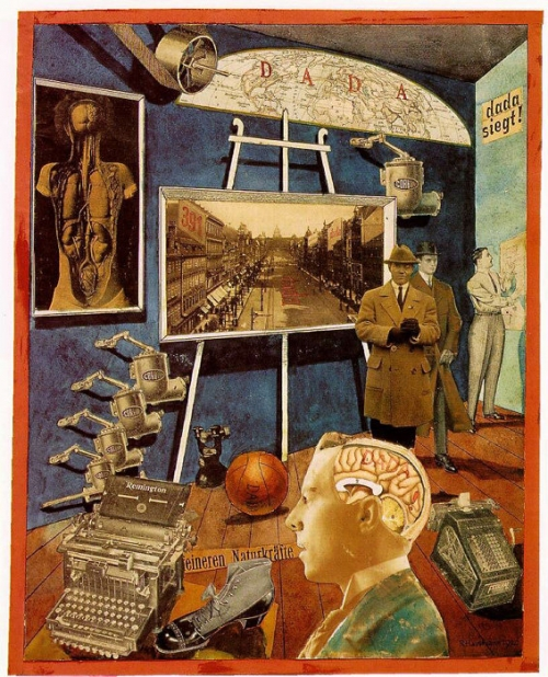 art,collages,dada,hausmann