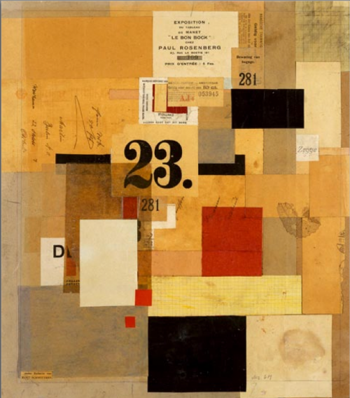 art,collages,dada,schwitters